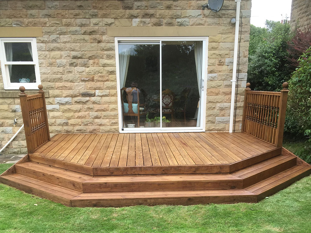 Decking Stripped and Oiled