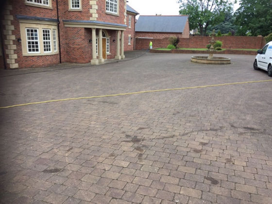 Discoloured Block Paving