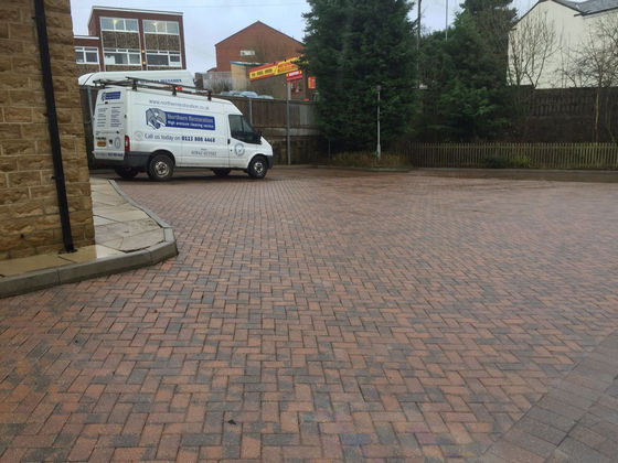 Car Park Cleaned and Re-sanded