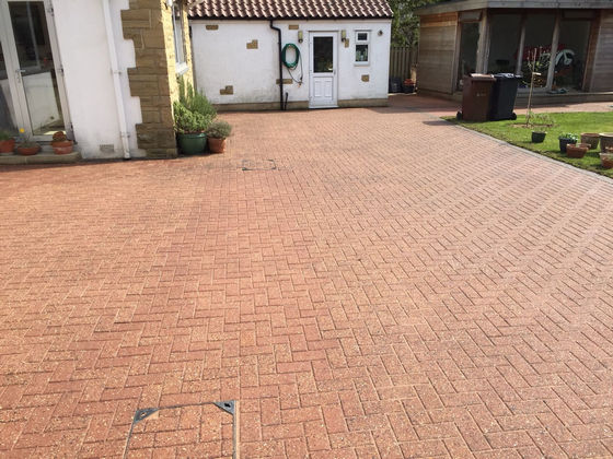 Patio/Driveway Cleaned, Re-sanded and Sealed