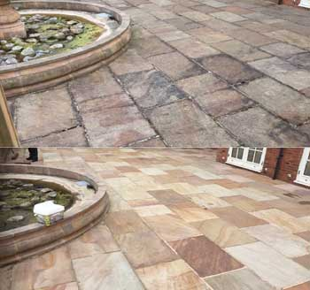 Flagstone Cleaning, Re-pointing and Sealing